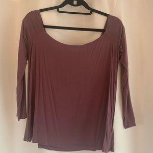 Fashion Nova off the shoulder long sleeve shirt